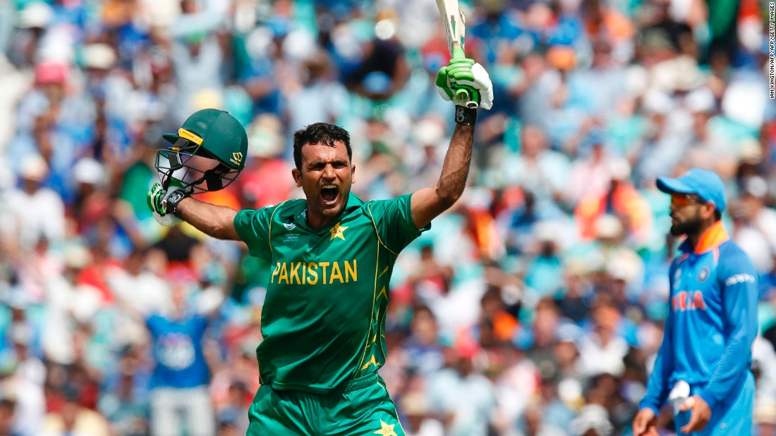 Pakistan's Fakhar Zaman hit a spectacular century to take Pakistan to 338-4, setting India a target that had never been achieved in the final of an International Cricket Council (ICC) tournament.