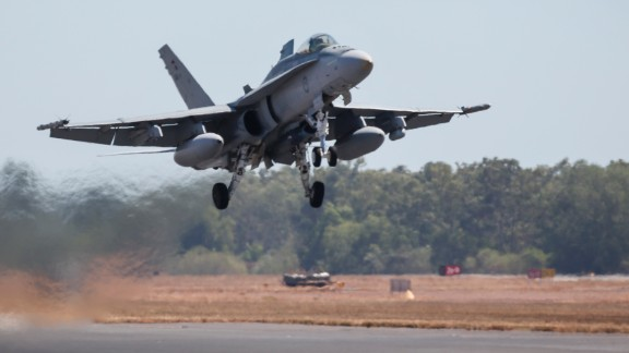 Australian forces have suspended air strikes.