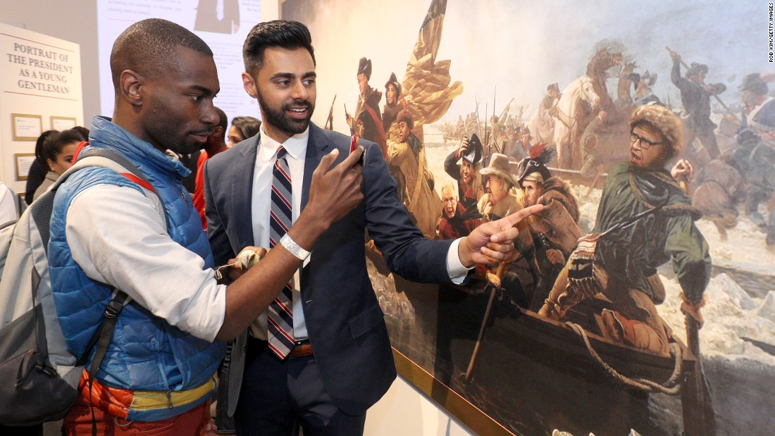 "Activist Deeray McKesson and comedian Hasan Minaj attended the ""Donald J. Trump Presidential Twitter Library"" opening reception presented by Comedy Central's ""The Daily Show"" on June 15, 2017 in New York City."