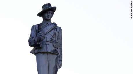 Orlando's statue of Johnny Reb, a symbol of Confederate soldiers.