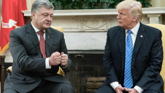 Ukrainian President Petro Poroshenko meets with US President Donald Trump at the White House in June.