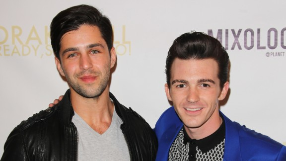"""Josh Peck and Drake Bell attended Bell's album release party for """"Ready Steady Go!"""" at Mixology101 & Planet Dailies in Los Angeles, California in 2014."""
