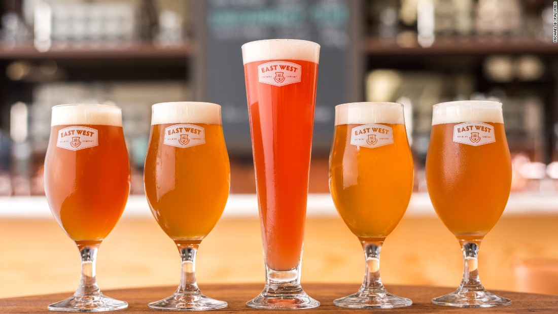 The brewery's lightly hopped beers, such as the East West Pale Ale, provide stepping stones to stronger flavors for new craft converts.