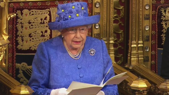 The Queen opening a new session of Parliament on Wednesday.