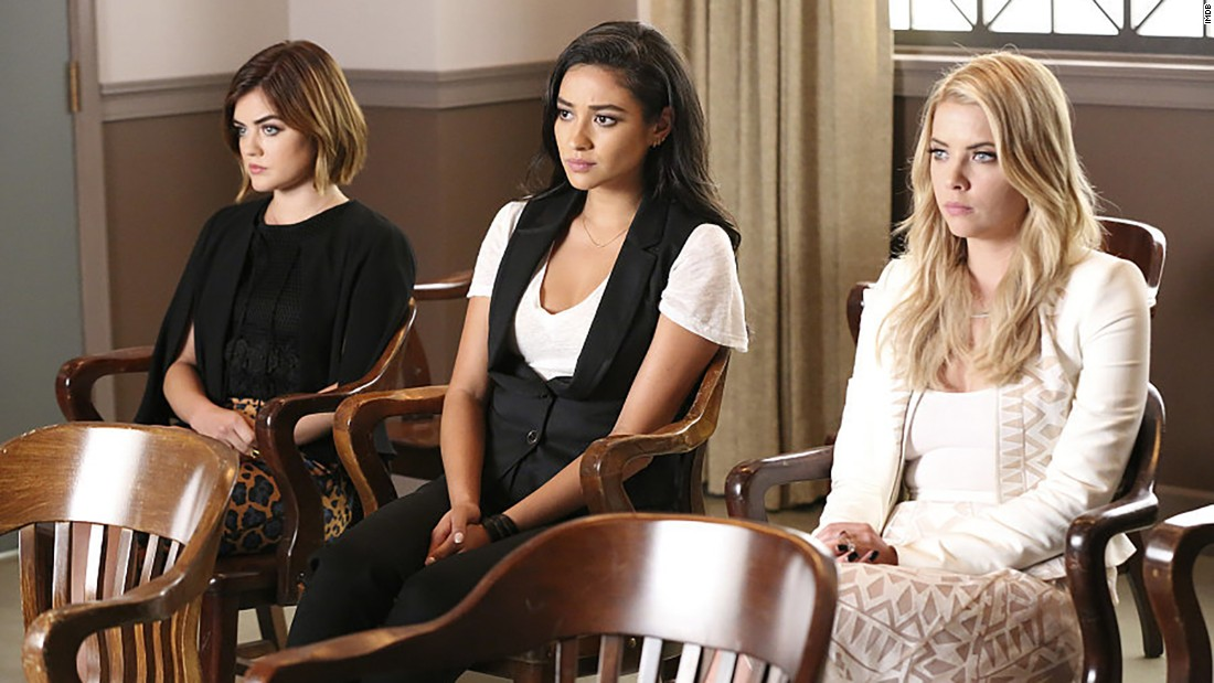 "<strong>""Pretty Little Liars"" Season 7B:</strong> Lucy Hale, Ashley Benson, and Shay Mitchell star in this popular series about secrets and the mysterious ""A."" <strong>(Netflix) </strong>"