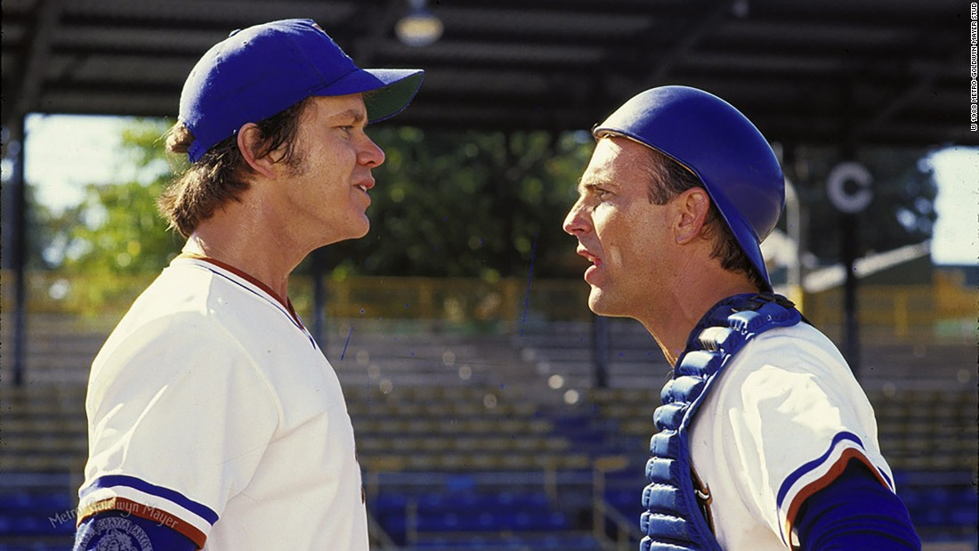 "<strong>""Bull Durham"":</strong> Tim Robbins and Kevin Costner star in this baseball drama about a veteran catcher who tries to teach a rookie pitcher about the game. <strong>(Amazon Prime, Hulu)</strong>"