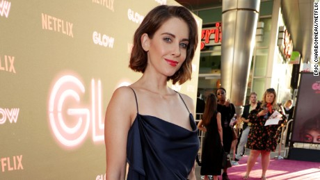 Alison Brie seen at Netflix original series 'GLOW' Premiere at the Cinerama Dome on Wednesday, June 21, 2017, in Los Angeles, CA. (Photo by Eric Charbonneau/Invision for Netflix/AP Images)