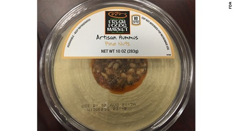 Fresh Foods Market artisan hummus with pine nuts.