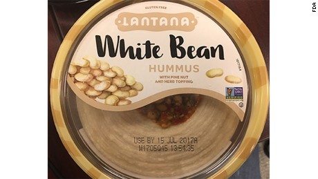 Lantana white bean hummus with pine nut and herb topping.