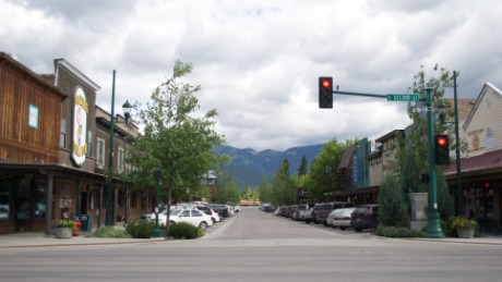 The small town of Whitefish, Montana.