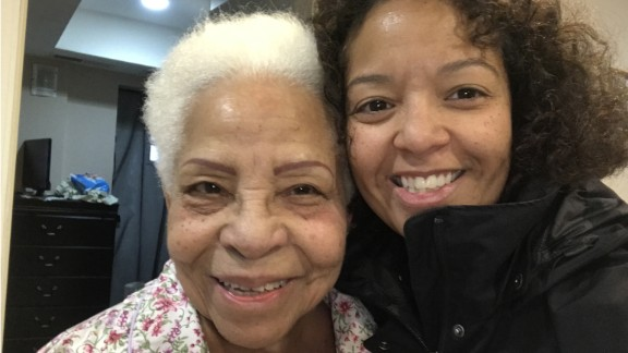 Marisol Bello and her grandmother earlier this year