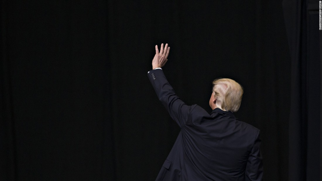 "US President Donald Trump waves after speaking at a rally in Cedar Rapids, Iowa, on Wednesday, June 21. During <a href=""http://www.cnn.com/2017/06/21/politics/trump-iowa-rally/index.html"" target=""_blank"">his speech,</a> Trump slammed Democrats for opposing his agenda, railed against the media's coverage of his presidency and hailed the work he has done to make good on his campaign promises. <a href=""http://www.cnn.com/2017/06/15/world/gallery/week-in-photos-0616/index.html"" target=""_blank"">See last week in 38 photos</a>"