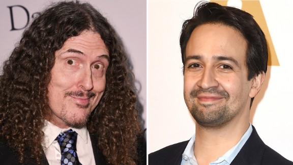 """""""Weird"""" Al Yankovic and Lin-Manuel Miranda were together when they learned the good news."""