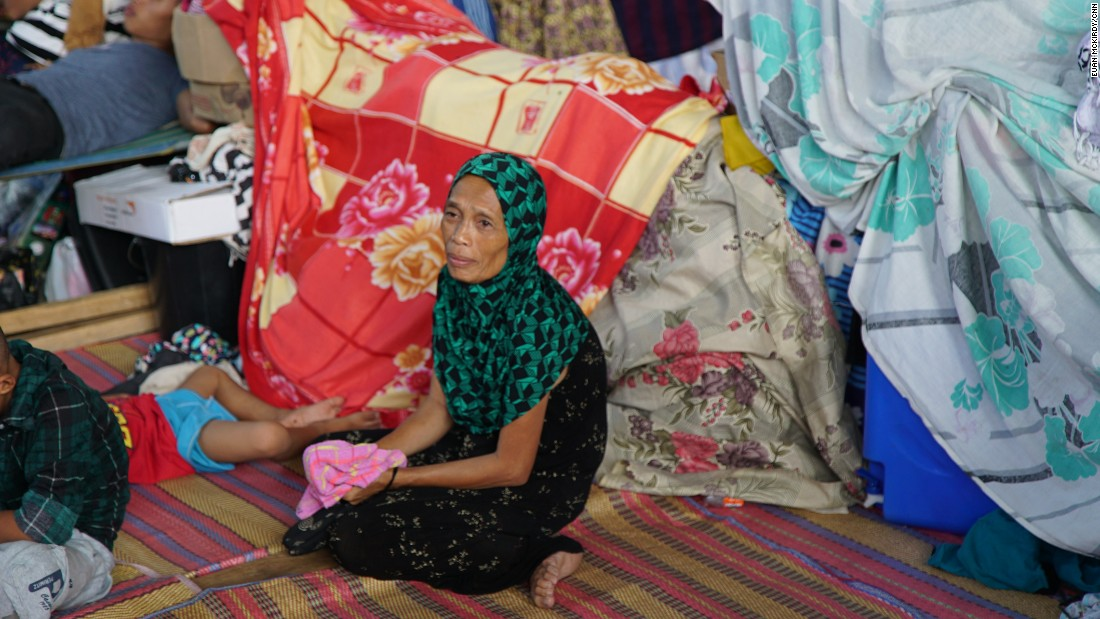 All the people sheltering at the camp in Barangay Maria Christina fled from Marawi in the days and weeks following ISIS militants' attack on the city.