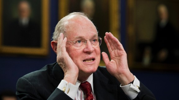 Supreme Court Associate Justices Anthony Kennedy testifies on Capitol Hill in Washington, Monday, March 23, 2015, before a House Committee on Appropriations subcommittee on Financial Services hearing to review the Supreme Court