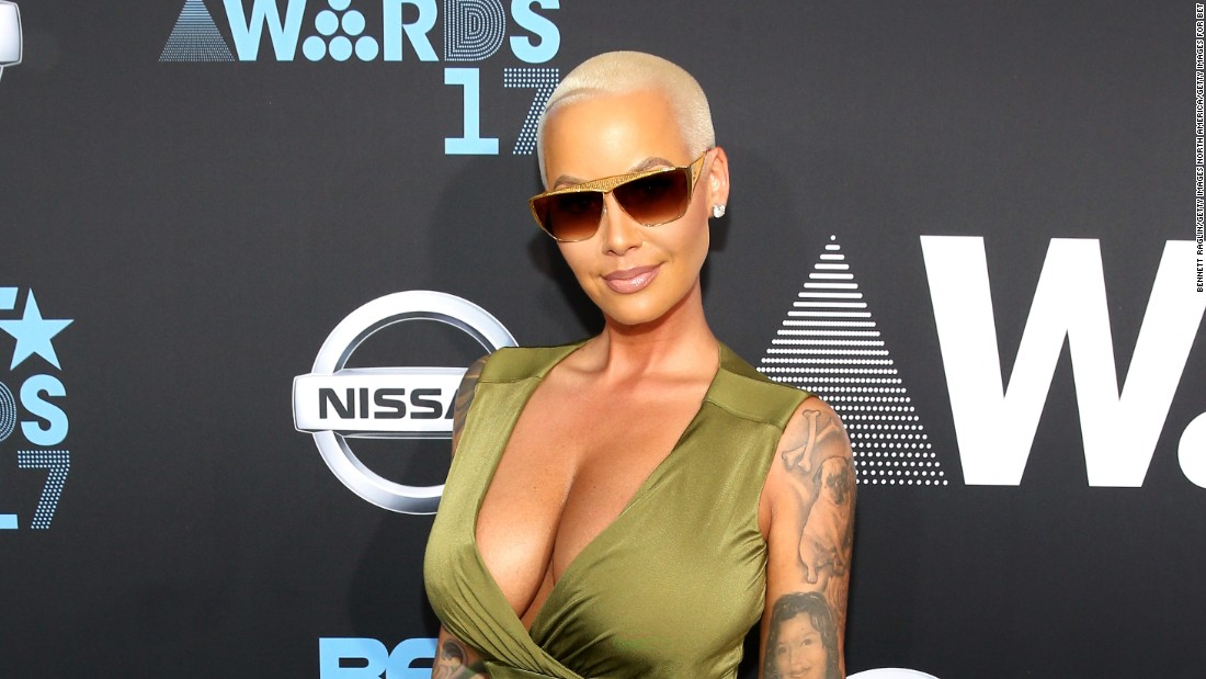 Amber Rose at the 2017 BET Awards.