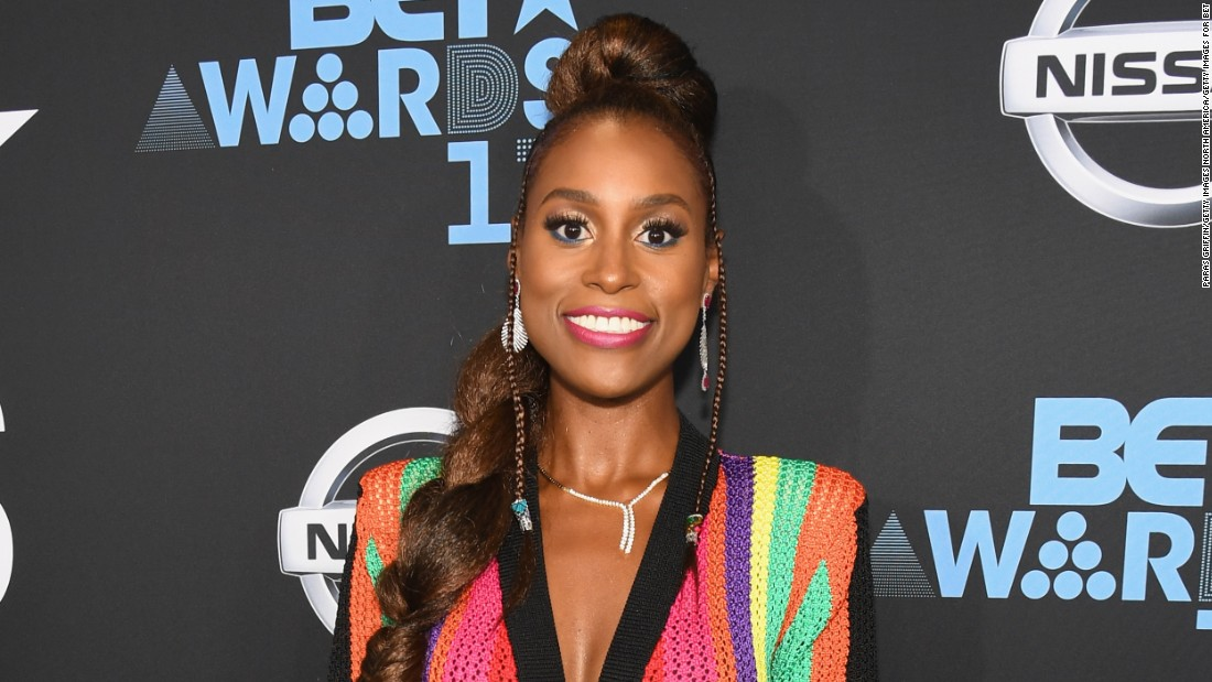 'Insecure' star Issa Rae at the 2017 BET Awards.