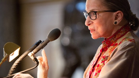 U.S. Supreme Court Justice Ruth Bader Ginsburg speaks at an annual Women