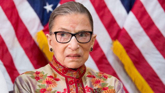 U.S. Supreme Court Justice Ruth Bader Ginsburg participates in an annual Women