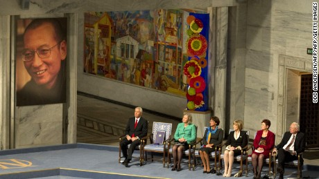 An empty chair sat on stage of the the 2010 Nobel Peace Prize ceremony, as its celebration of dissident Liu Xiaobo continues to split the global community and infuriate Beijing.