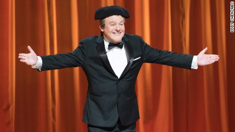 "Mike Myers as host Tommy Maitland on ABC's ""The Gong Show."""