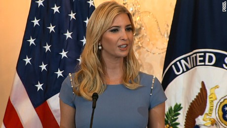 Ivanka Trump urges action on human trafficking