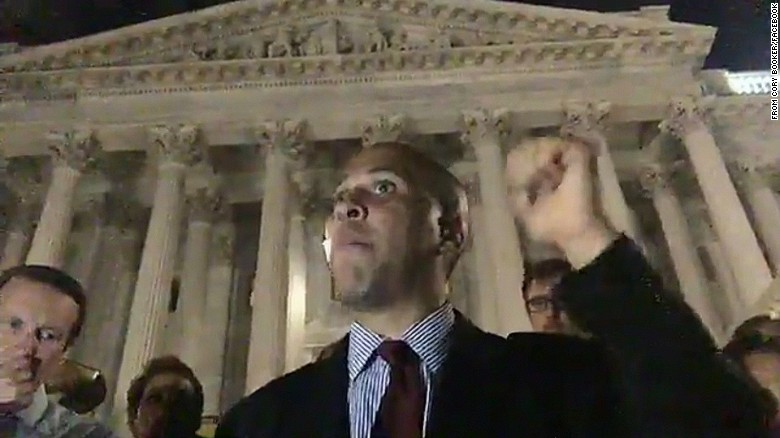 Cory Booker stages sit-in on Capitol steps
