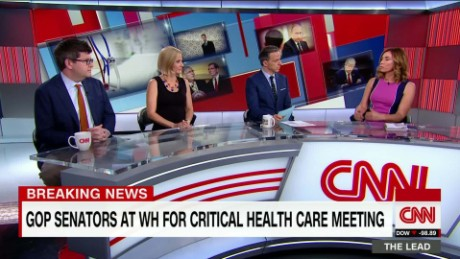 the lead political pannel Jake Tapper White House GOP senate health care bill _00004310.jpg