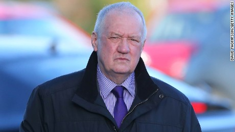 David Duckenfield arrives to give evidence at the Hillsborough Inquest.