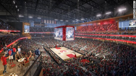 The updated video board will be more than three times the size of the old one.