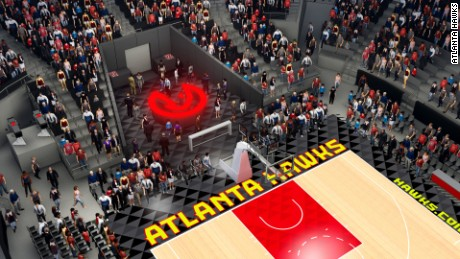 Philips Arena will have the first bar on an NBA floor.