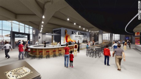 Zac Brown's Social Club restaurant, part of the massive upgrade plan to Philips Arena, will also have a stage.