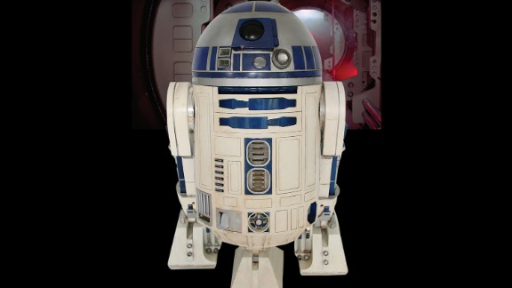 """An R2-D2 unit from the """"Star Wars"""" films sold at auction Wednesday."""