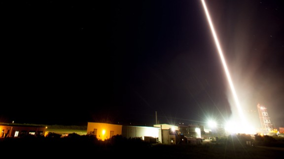 The launch of the sounding rocket.