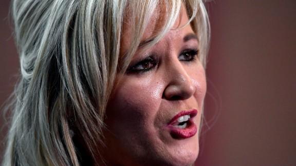 Michelle O'Neill is the leader of Sinn Fein in Northern Ireland.