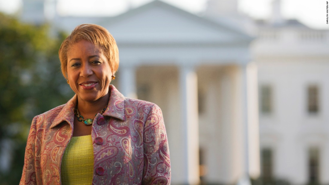 Angella Reid is photographed in Lafayette Park in front of the White House, Tuesday, October 18, 2011, shortly before she became White House chief usher. She was ninth person to hold the job and the first woman in the position.
