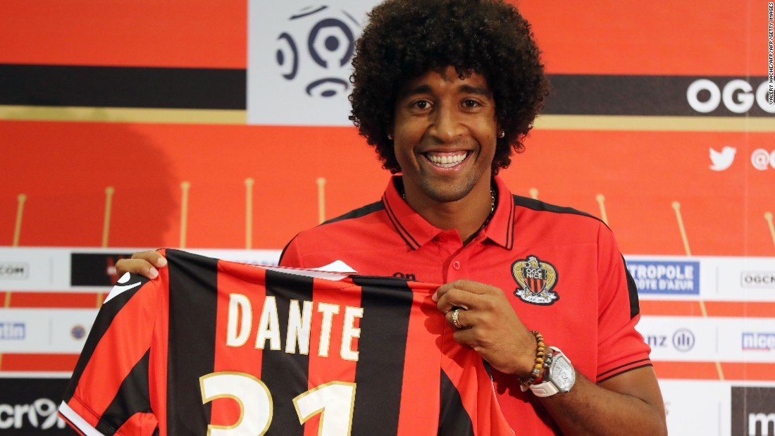 "Nice's Brazilian defender Dante joined the team one month after the attack in July 2016. ""We can help a little bit with the way we play on the field, bringing joy to supporters or bringing joy to people who lost their families,"" he told CNN. ""We've tried to bring more happiness to the city, I think it's important."""