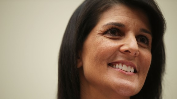 """US Ambassador to the United Nations Nikki Haley testifies during a hearing before the House Foreign Affairs Committee June 28, 2017 on Capitol Hill in Washington, DC. The committee held a hearing on """"Advancing US Interests at the United Nations.""""  (Photo by Alex Wong/Getty Images)"""