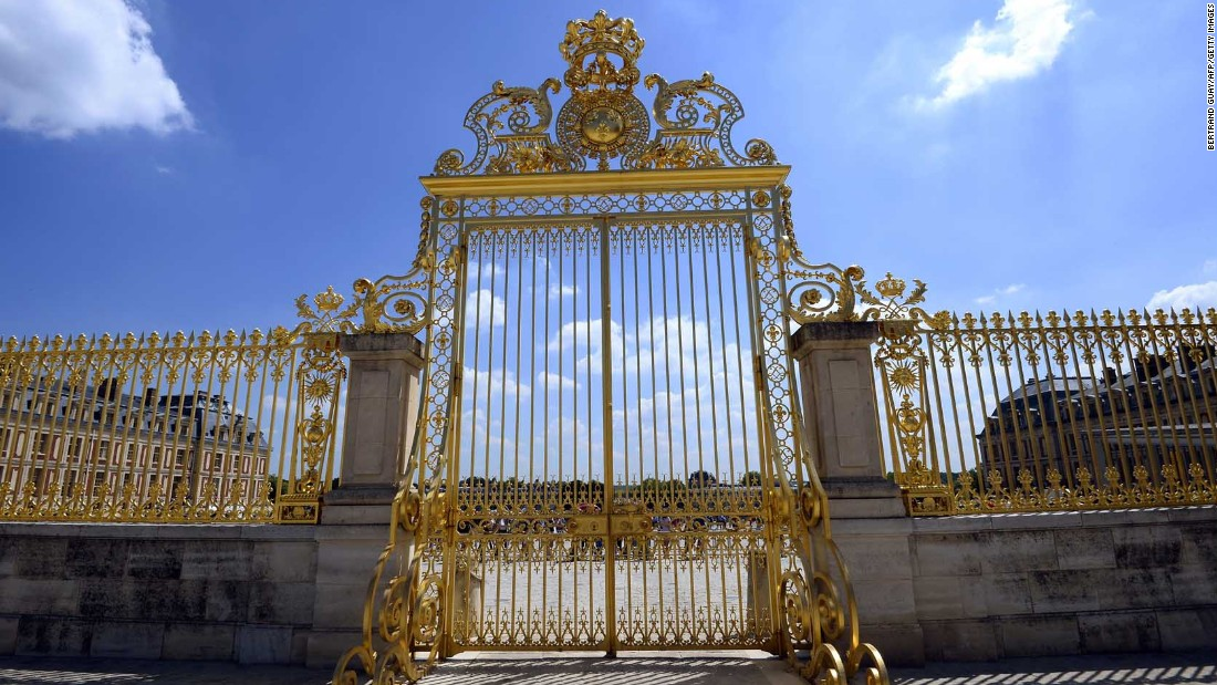 The royal gate at Versailles.
