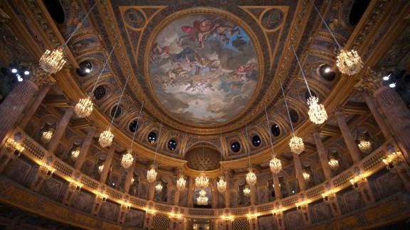 The interior of the Opera Royal de Versailles.