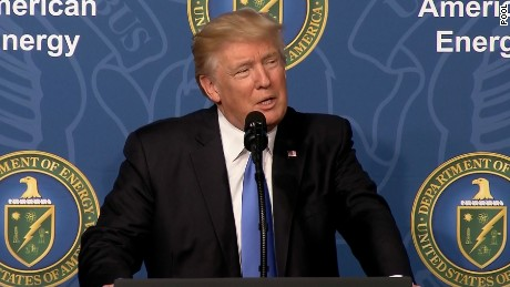 President Donald Trump speaks at the Energy Summit in Washington, D.C.