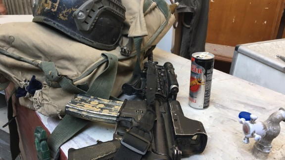 Iraqi forces rely on assault rifles, protective helmets and energy drinks.