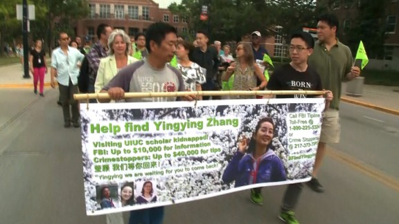 Friends and family members of YingYing Zhang held a march after she disappeared in June.