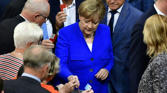 """German parliament voted to legalize """"Ehe fur alle"""" in June. Merkel voted against the bill."""