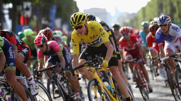 Chris Froome of Great Britain and Team Sky in action in 2016 at the Tour de France.
