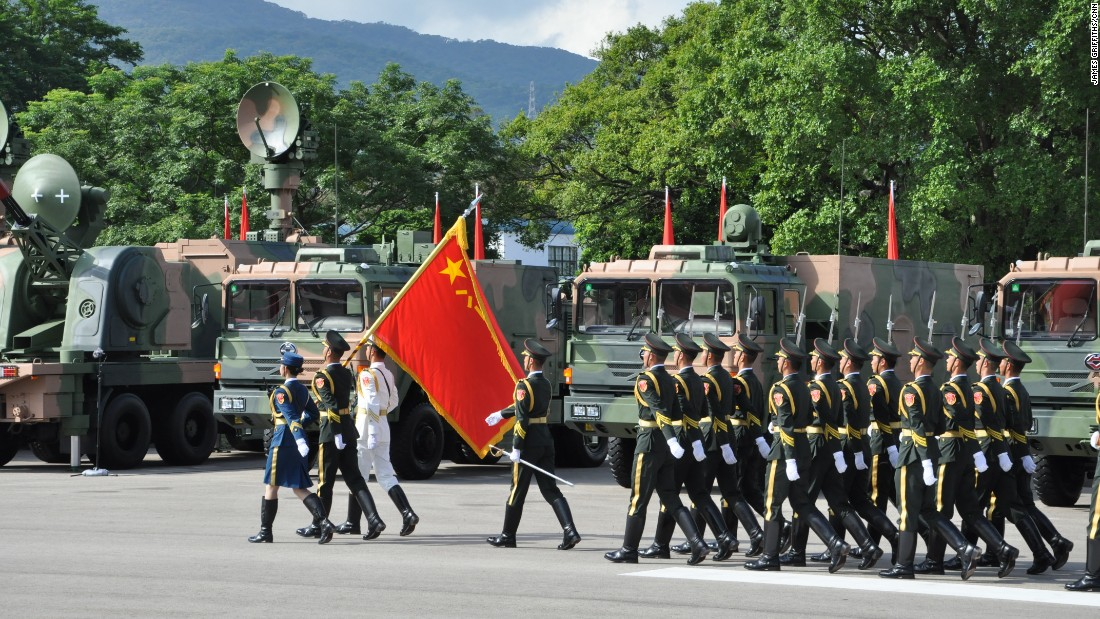 The PLA normally keeps a low profile in Hong Kong, where its presence is still a sensitive subject.