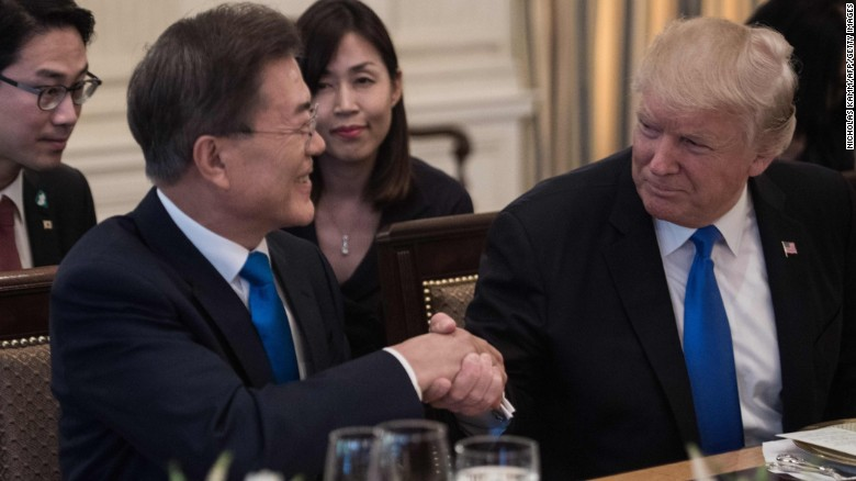 Image result for moon jae in and trump