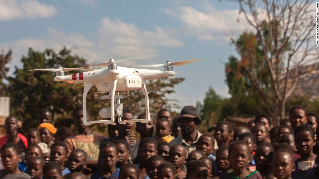 "In Malawi, UNICEF ran trials to use drones to <a href=""https://www.reuters.com/article/us-malawi-hiv-drones-idUSKCN0XH1ZN"" target=""_blank"">deliver HIV tests</a> to remote parts of the country in 2016."