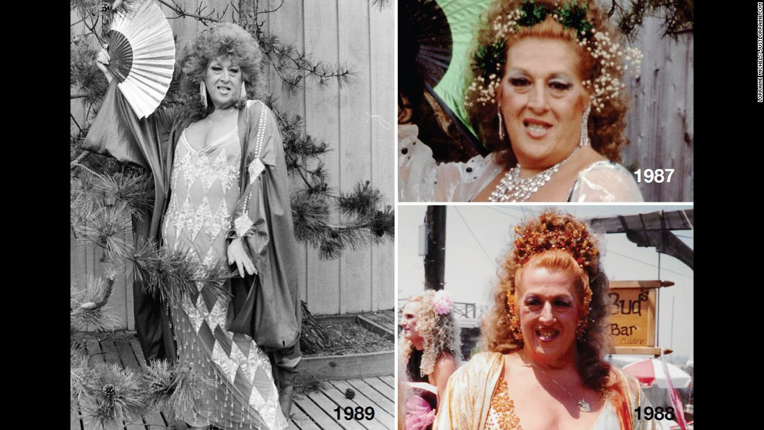 "Local lore goes that around May 1976, a drag queen named Teri Warren was denied service at an establishment in a more posh and conservative section of the island because he was in full drag. That inspired others to dress in drag and ""invade"" the harbor to stand up for themselves. Here are some of Warren's looks in the late 1980s, as documented in Lorraine Michels' book: <a href=""https://www.facebook.com/stonewallmuseum/photos/gm.548495995299670/872440232825406/?type=3&theater"" target=""_blank"">""The Invasion of the Pines: 40 Years of Fun, Frolic & Fantasy, 1976-2015.""  </a>"
