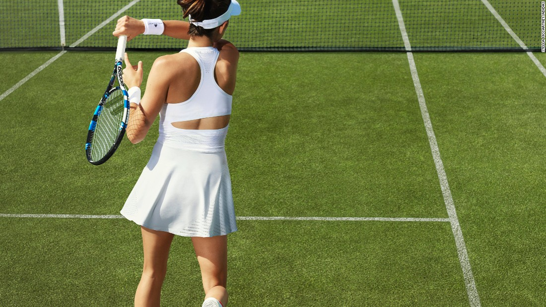 "McCartney is also keen for amateur tennis players to wear her kit which is produced in collaboration with German sports wear manufacturer Adidas. <br />""I get a lot of feedback saying they think they are wearing the best tennis gear available in the marketplace for sure, which I'm very proud of,"" McCartney said."